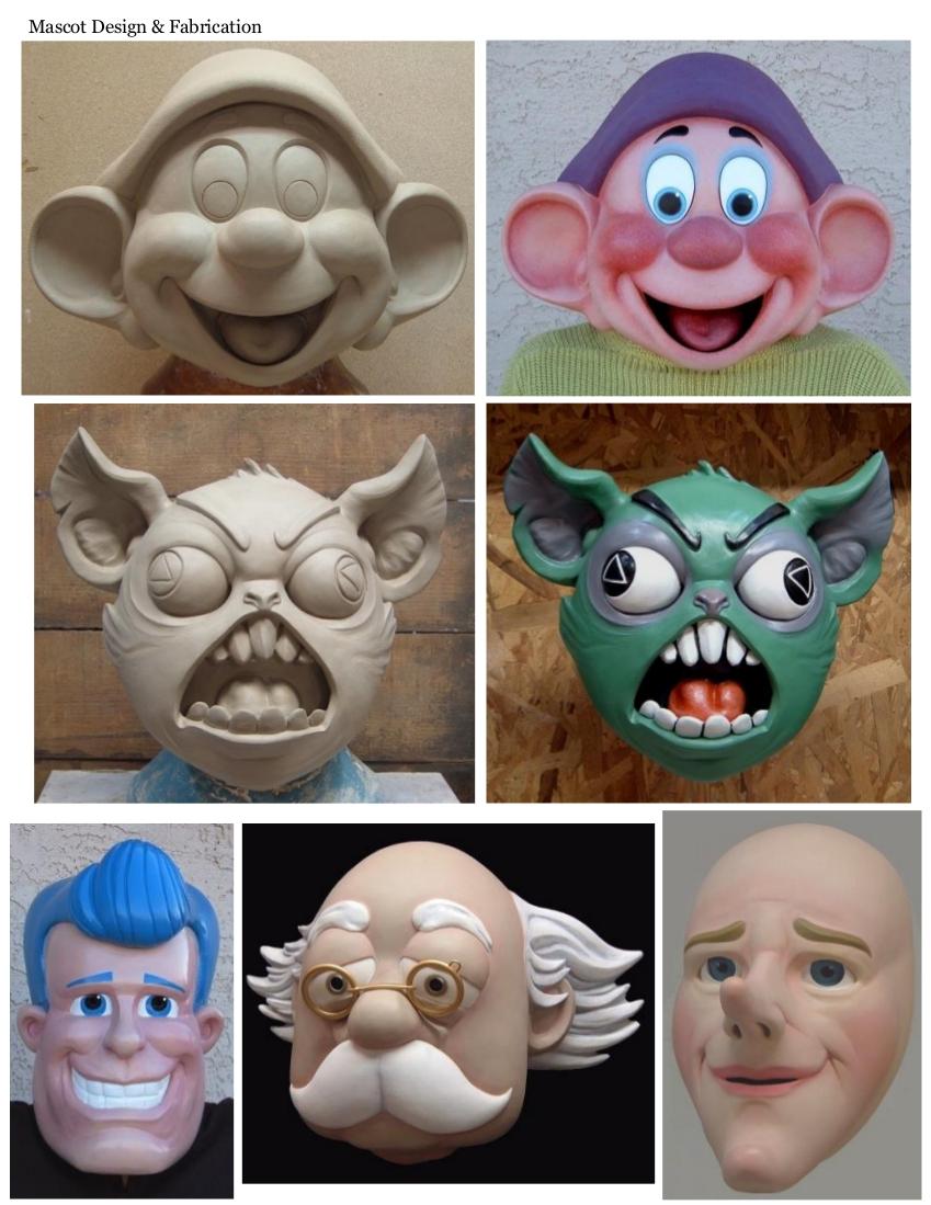 Custom mask design, props, custom made mascots, custom mask ...